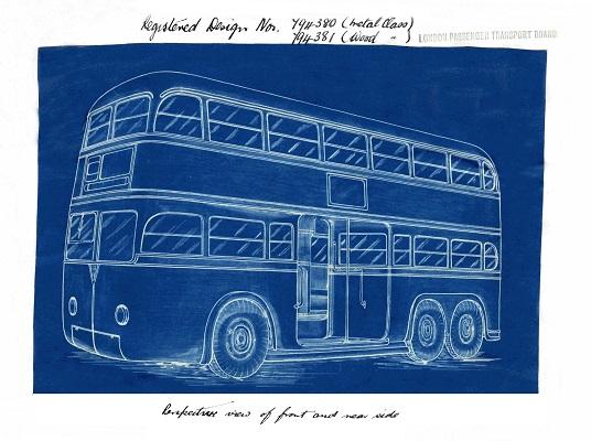 Blueprint of bus